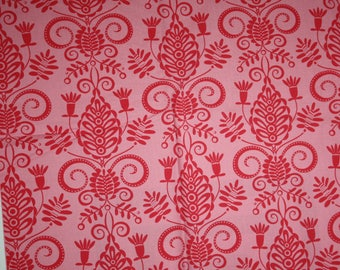 michael miller pillow maxfield doozie tonal pink  cotton quilting fabric destash fabric by the yard