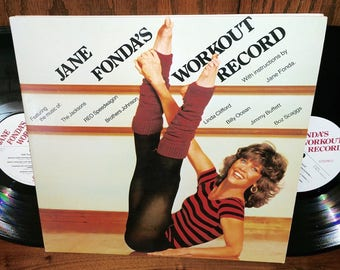 Jane Fonda's Workout Record Vintage Vinyl Double Album