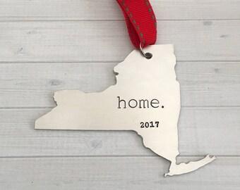 New York Ornament - Personalized New York Ornament - New York Christmas Ornament - New York State - Holiday Ornament - Keepsake Ornament