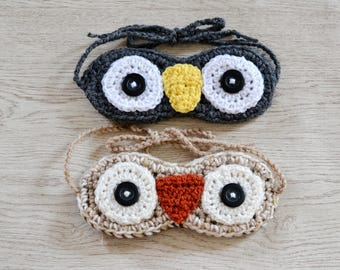 Eye Masks, Sleep Owl Mask, Penguin EyeMask, Migraine Blackout, uk