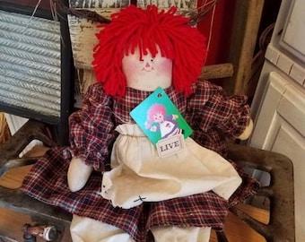 super sale primitive folk art rag doll