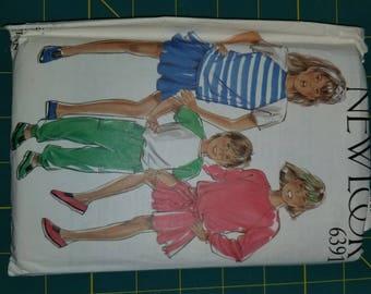 Boy Girl 1980s Raglan Pullover Sweater Top Skirt Pants Multisize New Look 6391