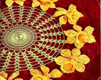 Daffodil Doily Crochet Pattern 723162