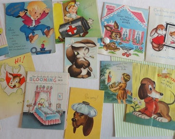 Adorable Entertaining Cards with Games Pop Ups for Kids Get Well in Vintage All Occasion Lot No 279 Large Lot of 14 Doctor Kit Honeycomb