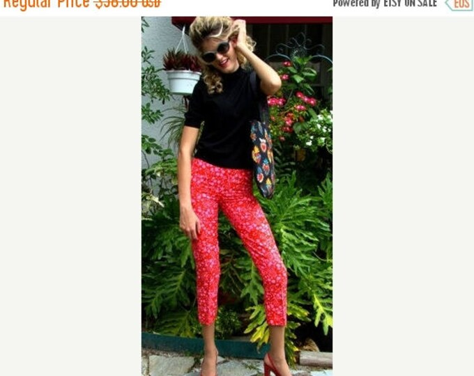 sale Red Pants, Skinny Pants, Pegged Legged Pants, Linen Pants, Vintage Pants, Cigarette Pants, Retro Pants, Rockabilly Clothing, Pin Up Pan