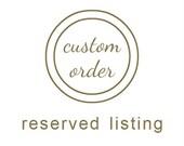 Custom order for Amir.