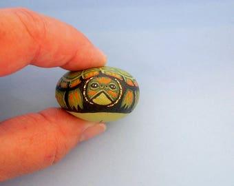 Snapping Turtle-ooak 3D miniature terrarium kits-summer fairy garden decor-gift for gardener-collectible-painted pet rocks-succulent planter