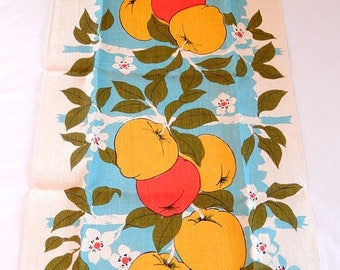 kitchen towel, vintage tea towel, Parisian Prints, linen, kitchen linens