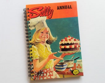 Sally, Girls Annual, 1974, Recycled Book Journal & Notebook