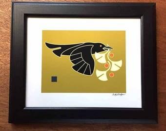 Raven Ginkgo,Art Print