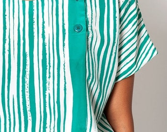 40% SUMMER SALE The Vintage Green Striped Tunic