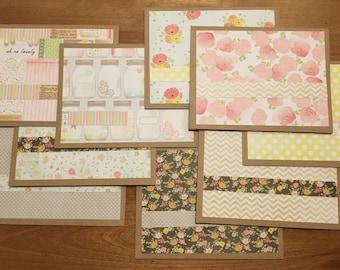 Summery paper notecard set