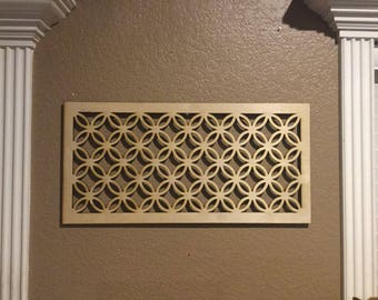 Unfinished Wood Celtic Style Knot ,Grid, Panel 17.5 x 29.5 inch
