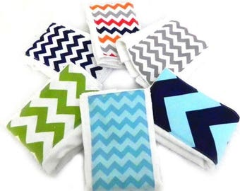 SALE Chevron Boy Burp Cloths - Your Choice- Set of 6, Baby Clothes Diaper Zig Zag // Cotton Burp Cloth // Chevron Burp Cloth // Baby Shower