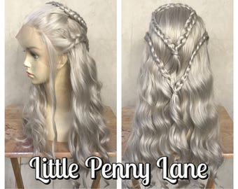 Daenerys Targaryen Game of Thrones Mother of Dragons Lace Front Adult Costume Wig READY to SHIP