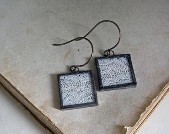 Vintage Lace Earrings Lead Free Soldered Jewelry