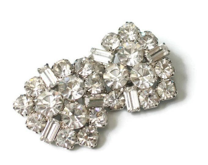 Clear Rhinestone Bridal Earrings Designer Signed Garne Wedding Special Occasion
