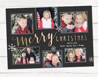 Christmas Photo Card / Printable / Merry Christmas / Custom Holiday Photo Card