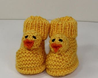 40% OFF SALE Instant Digital File pdf download knitting pattern - Toddler Chick Boots knitting pattern