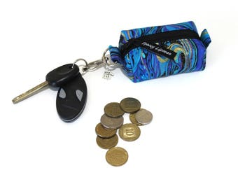 keychain coin purse - keyring change purse - lip balm holder - lipstick case - earbud holder - earphone case - gift under 15  fun coin purse
