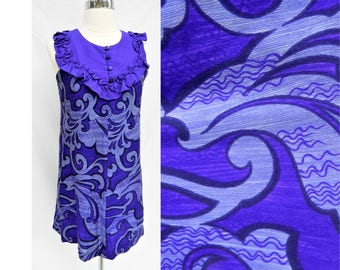 Vintage Lilia Liberty house purple Hawaiian mini dress- Size Small