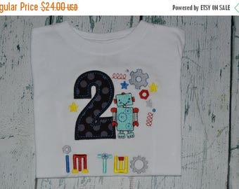 ON SALE PERSONALIZED Robot Birthday Shirt  Custom Your choice 1-9