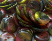See Shop Announcement for 60% Off Code - Iridescent  - Multi Colored Buttons - 5/8 inch X 60