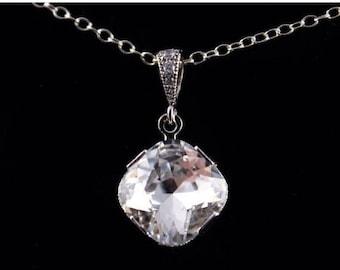 ON SALE Bridal Necklace Set of 6 Crystal and Rhinestone Wedding Necklace Margot