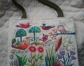 For Denita -  Happy Tote Art in stitches