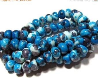20% OFF LOOSE Gemstone Beads - Jade Beads - 4x6mm Rondelles - Turquoise, Gray, White (10 beads) - gem663