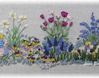 NEW! Silk Ribbon embroidery - Springtime - Full kit