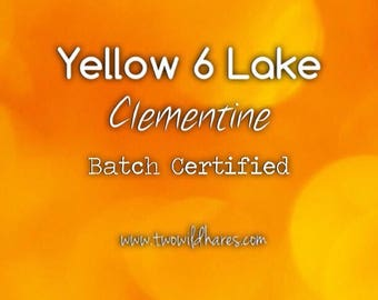 CLEMENTINE LAKE Fd&c Yellow 6 Al. Lake, High Dye Load, 41%, Batch Certified, Powdered Cosmetic Colorant, 4oz