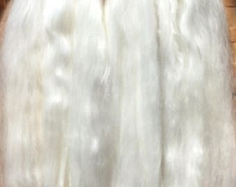 Combed Suri Alpaca Doll Hair 7-9 inches long 0.5 of an ounce White