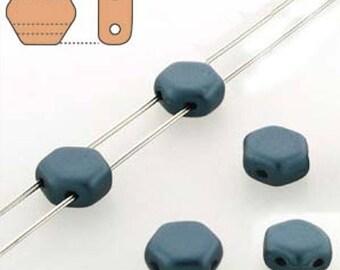 free UK postage Pastel Petrol Honeycomb Beads Strand of 30