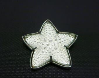 Lalique pin Sterling crystal Star fish Paris france