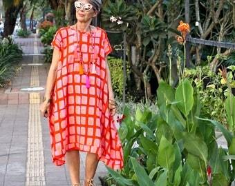 BATIK, Irra Dress, Caftan, Choice of Hand Printed Fabrics, Rayon