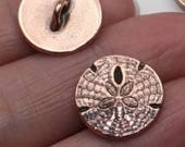 Antiqued Copper Sand Dollar Button Ring
