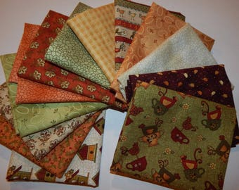 NEW Chicks on the Run Quilt Fabric 100% Cotton Coordinating Fat Quarters Bundle B