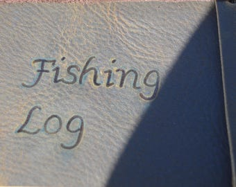Leather Fishing Journal with Free Personalization