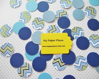 100 - Shades of Blue - Polka Dot Confetti-Wedding Confetti-Shower Decoration-Party Decor-Table Scatter