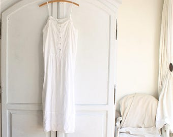 90s vintage white cotton nightgown Eileen West