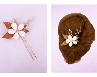 White Floral Hand-Crafted Hair Accessories