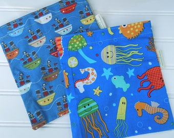 ON SALE * Reusable sandwich and/or snack bags - lots of choices,  mainly children/boys