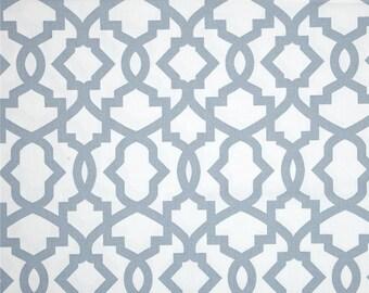 Fabric shower curtain, 72W  x 72LPremier Prints sheffield, blue and white cotton fabric, bathroom curtain