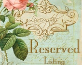 Reserved Listing for Customer Anita