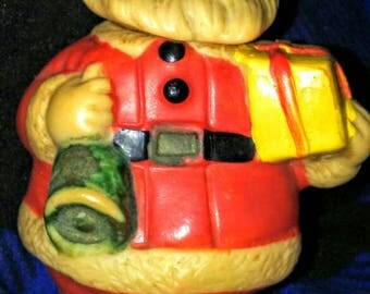 Rare Vintage Rubber Santa Squeak Toy