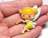 "2"" Tinkerbell Inspired Charm, Chunky Pendant, Keychain, Bookmark, Zipper Pull, Chunky Jewelry, Purse Charm"
