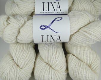 50/50 Alpaca/Wool blend yarn, natural white