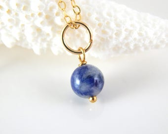 Denim Blue Charm ~ Blue Stone Pendant ~ add a charm ~ add a dangle - AdoniaJewelry