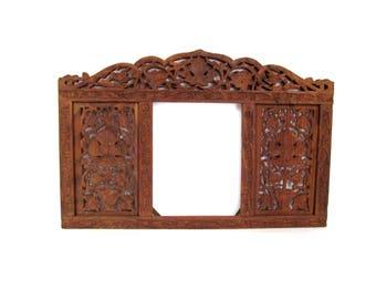 Vintage Hand Carved Large  Boho Wall Frame